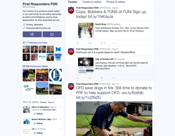 First Responders Foundation: Social Media