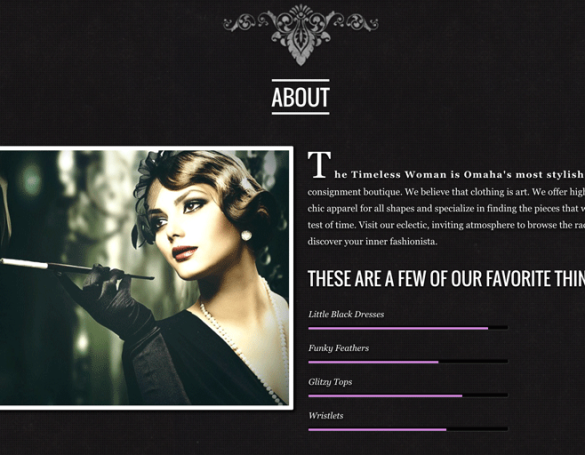 The Timeless Woman: Website
