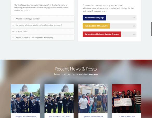 First Responders Foundation: Website