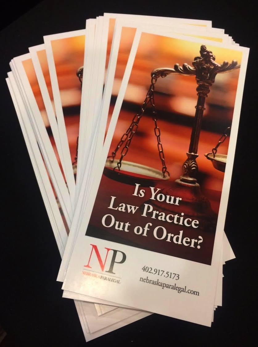 Nebraska Paralegal: Marketing Collateral
