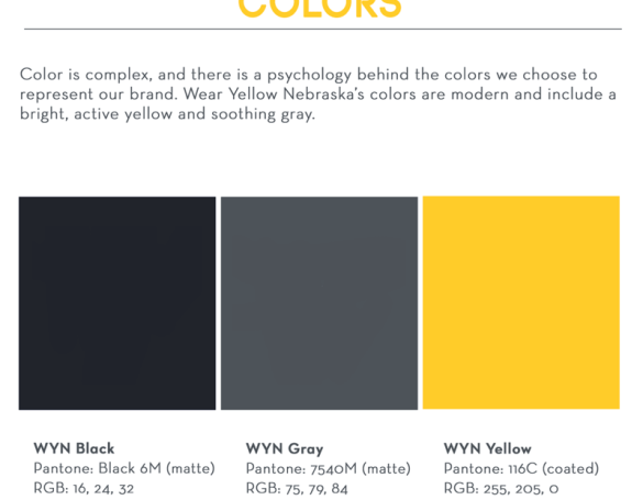 Wear Yellow Nebraska: Brand Book